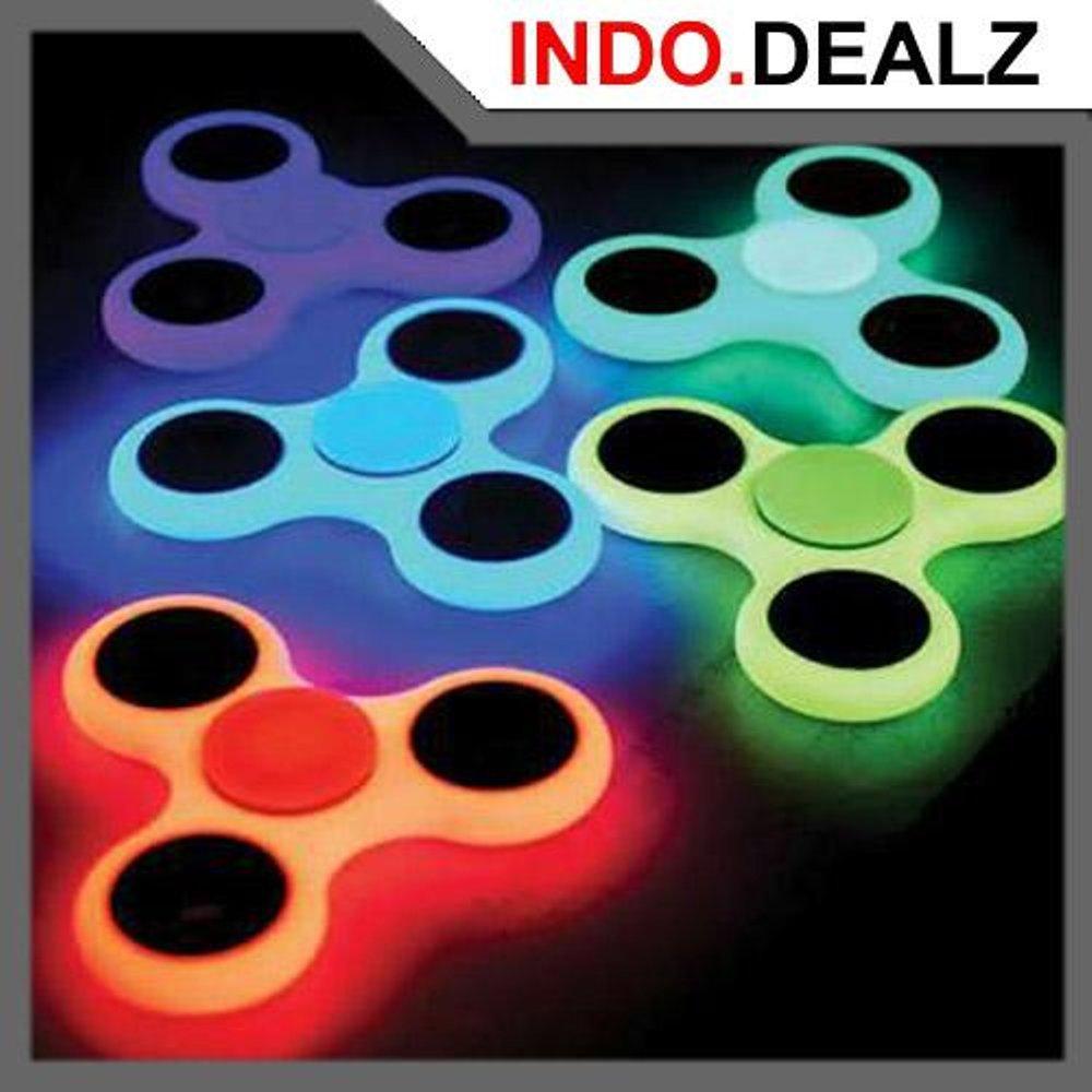 Buy 1 Get 1 Fidget Hand Spinner Glow In The Dark Kualitas Premium