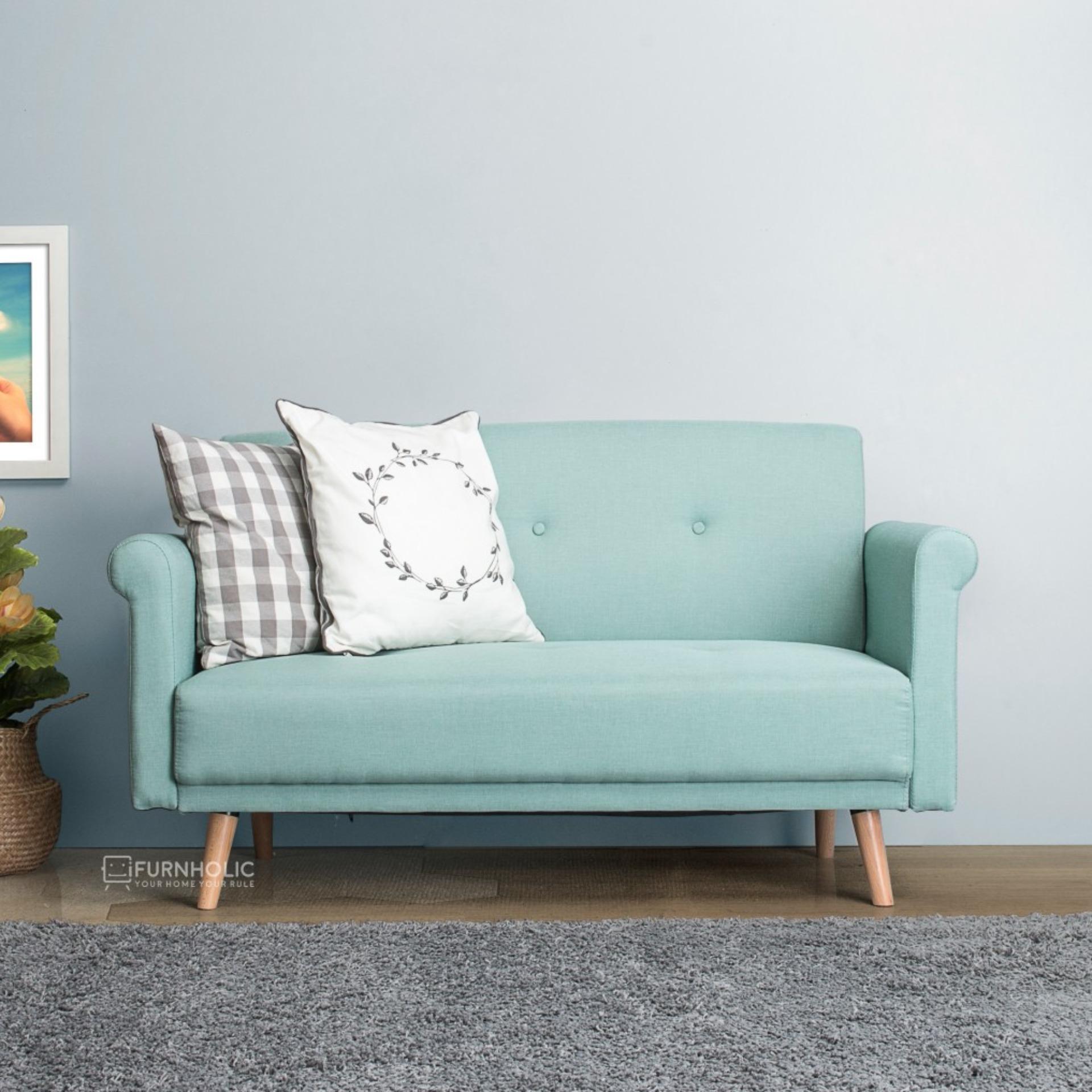 iFurnholic Mya Love Sofa - Kursi Sofa - Toscana Blue - Gratis Pengiriman Pulau Jawa dan Denpasar