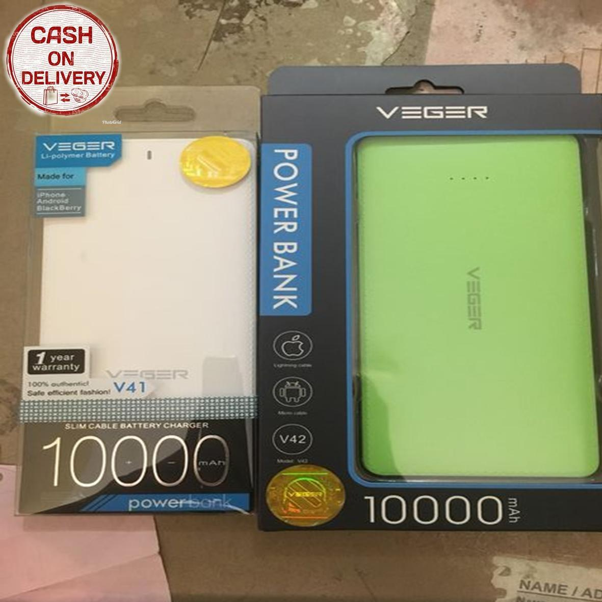 Kado Unik-- 1 Paket Powerbank Veger 10000mah V41 Dan V42 / Powerbank Veger/ Powerbank Portable / Charger Handphone / Powerbank Veger Original / Power Bank Veger Berkualitas / Powerbank Veger Slim