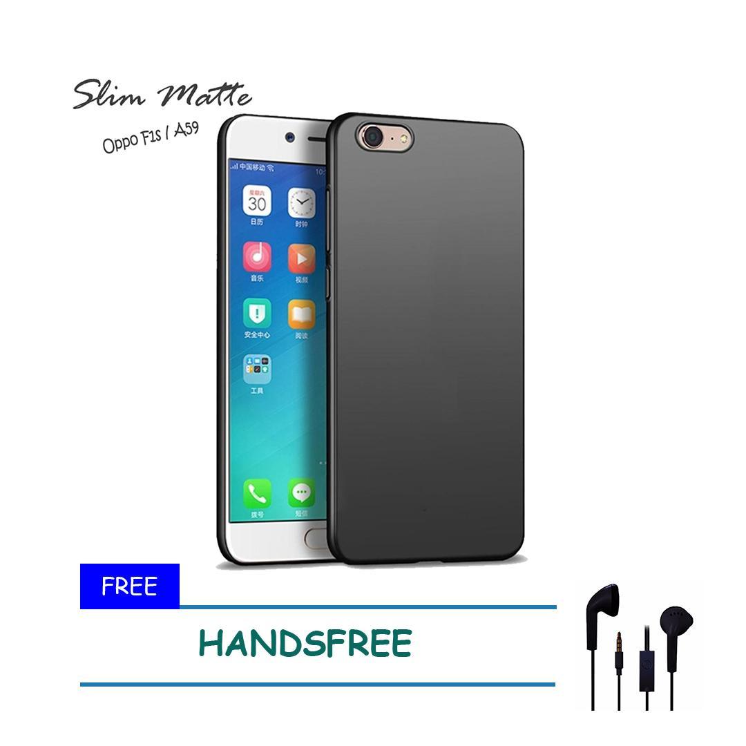 Case Slim Black Matte Oppo F1S / A59 Baby Skin Softcase Ultra Thin Jelly Silikon Babyskin - Black + Free Handsfree