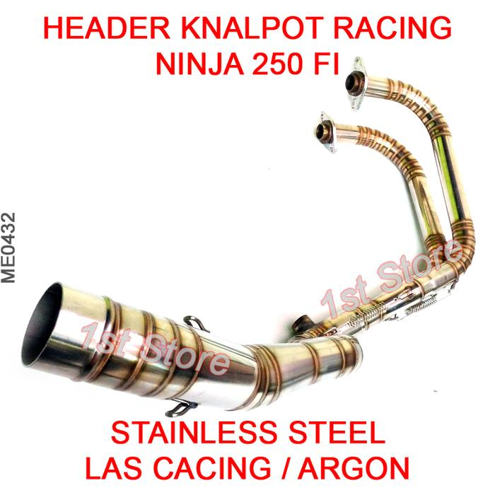 Header Pipa Knalpot Racing Ninja 250 FI New Z250 Injeksi 250FI Cacing ( knalpot motor racing bebek nmax honda vixion beat mio r15 matic jupiter z satria fu )