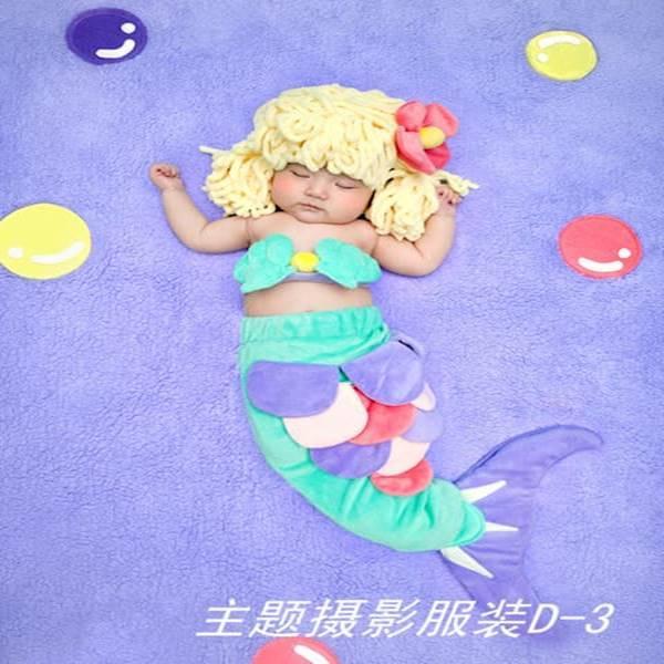 BABY KOSTUM SET IKAN DUYUNG / LITTLE MERMAID