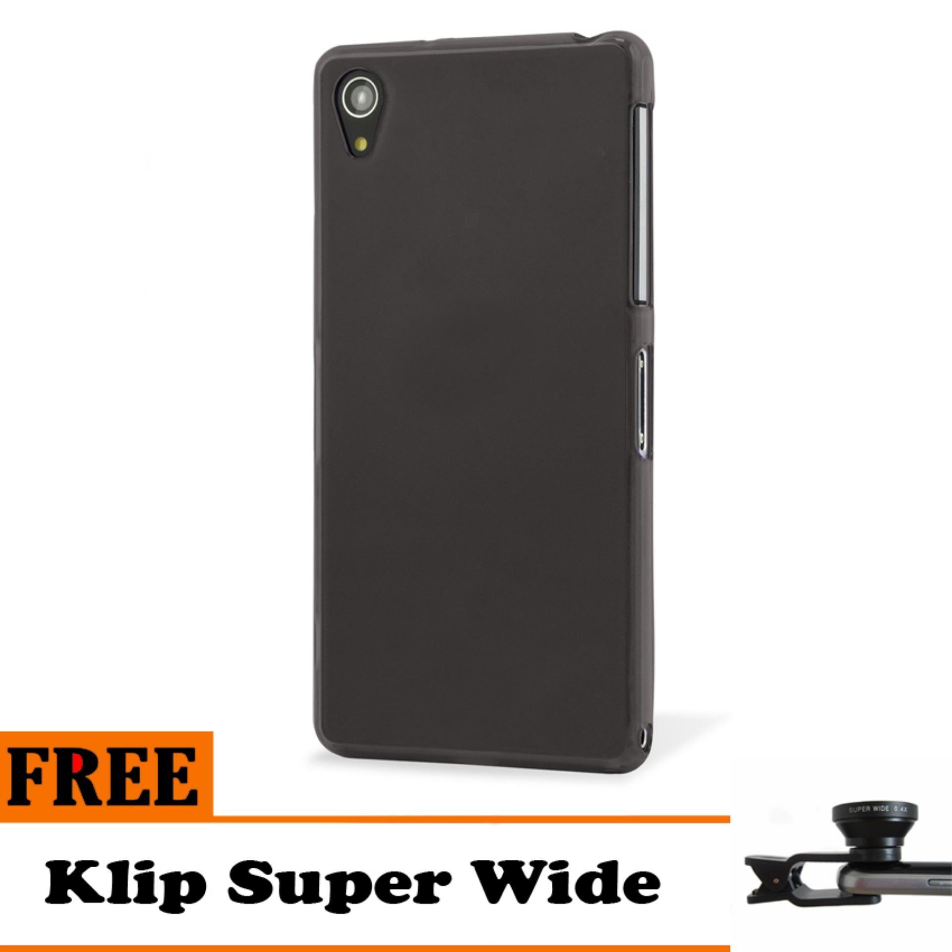 2 Super Frosted Shield Hard Case Original Hitam Gratis Anti Gores Clear. Source · Barokah Premium Slim Black Matte Shockproof Case for Sony Xperia Z1 - Free ...