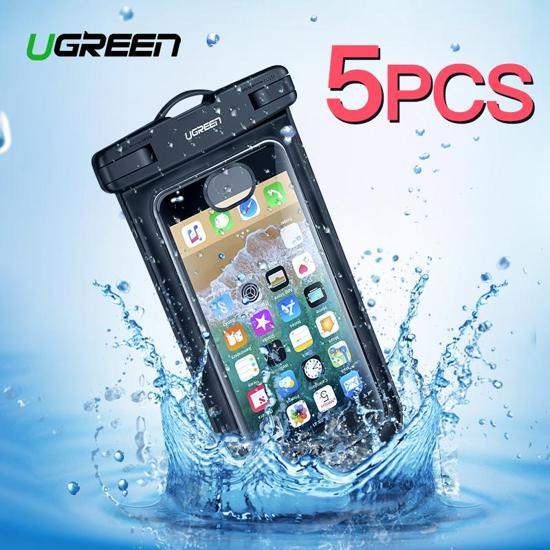 UGREEN 5Pack Dry Bag Waterproof Handphone Bag Watertight Case Touch Screen Transparent Pouch For iPhone Xiaomi