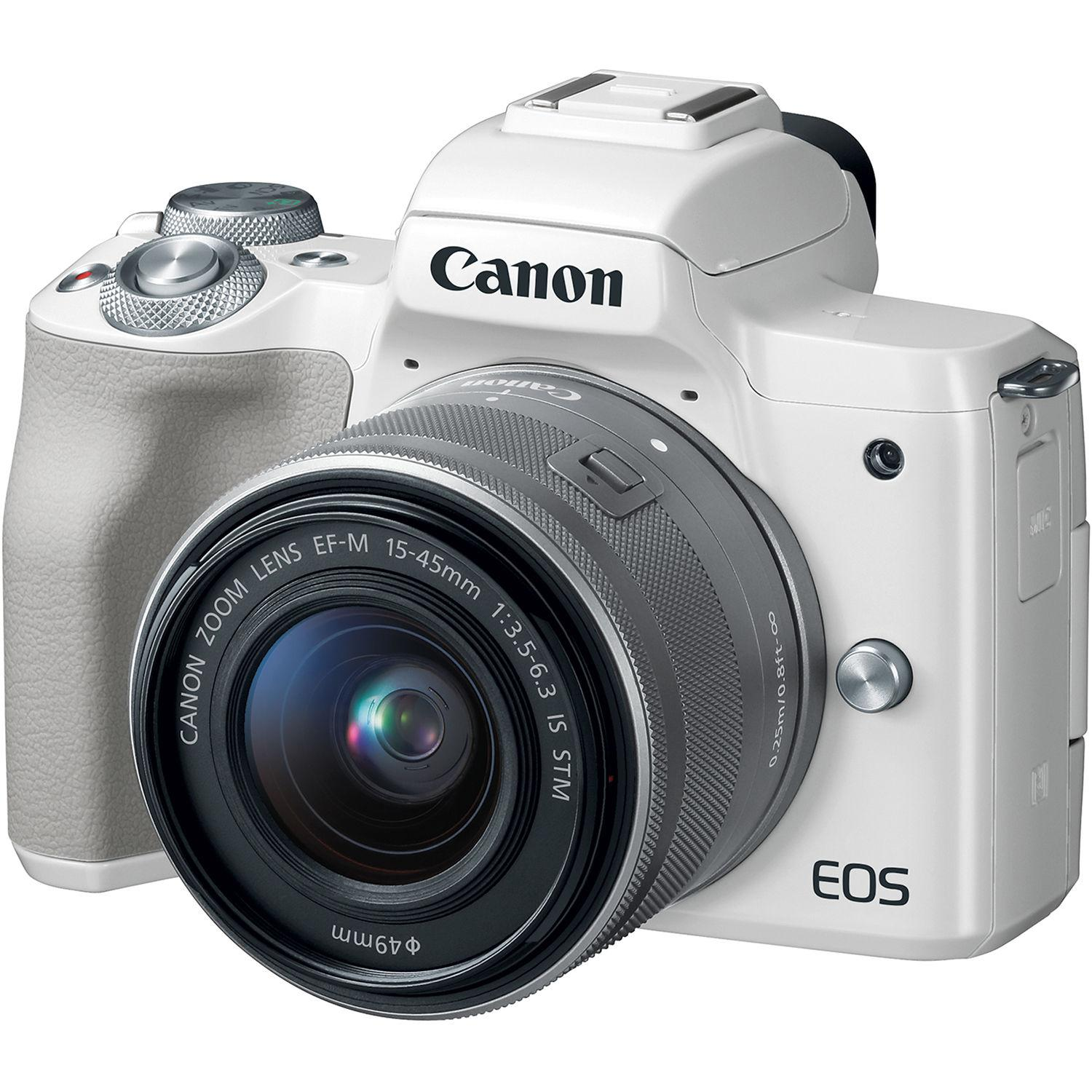 Canon Kamera Mirrorless EOS M50 Kit M15-45mm IS STM + Free LCD Screen Guard