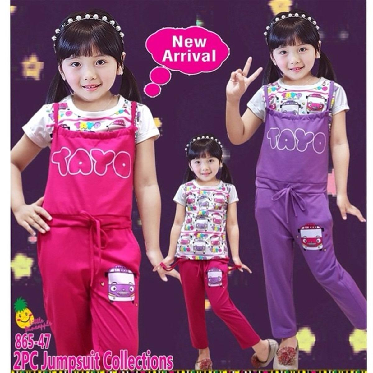 Little Pineapple 2in1 Set Overall Hai Tayo Anak 3-8Y