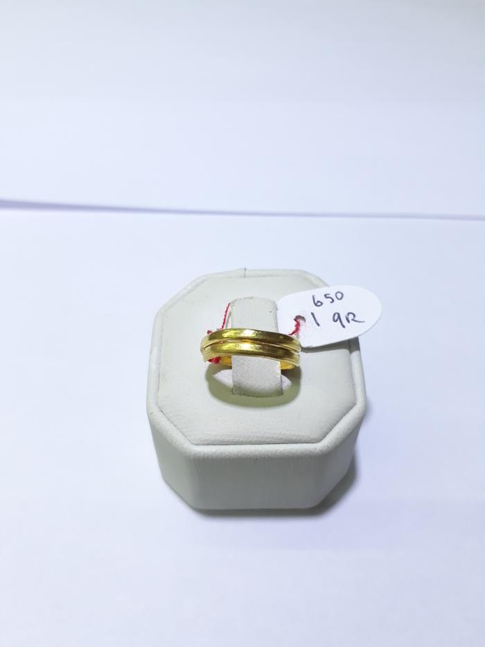 Cincin anak emas 24 karat model lilit berat 1.65 gram bisa besar kecil
