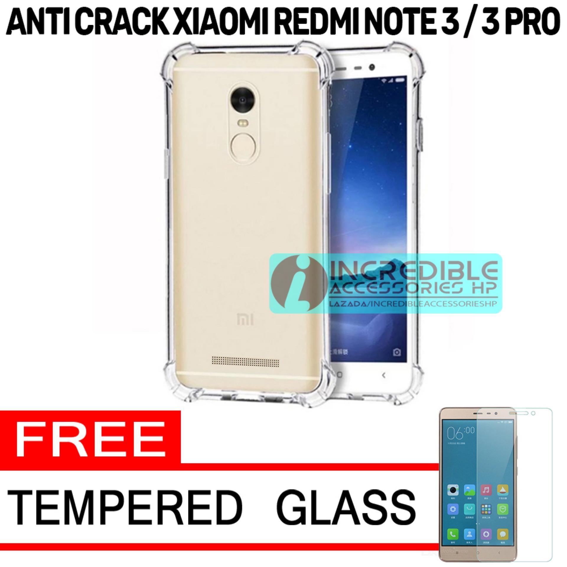 Case Anti Shock / Anti Crack Elegant Softcase  for Xiaomi Redmi Note 3 Pro - White Clear + Free Tem