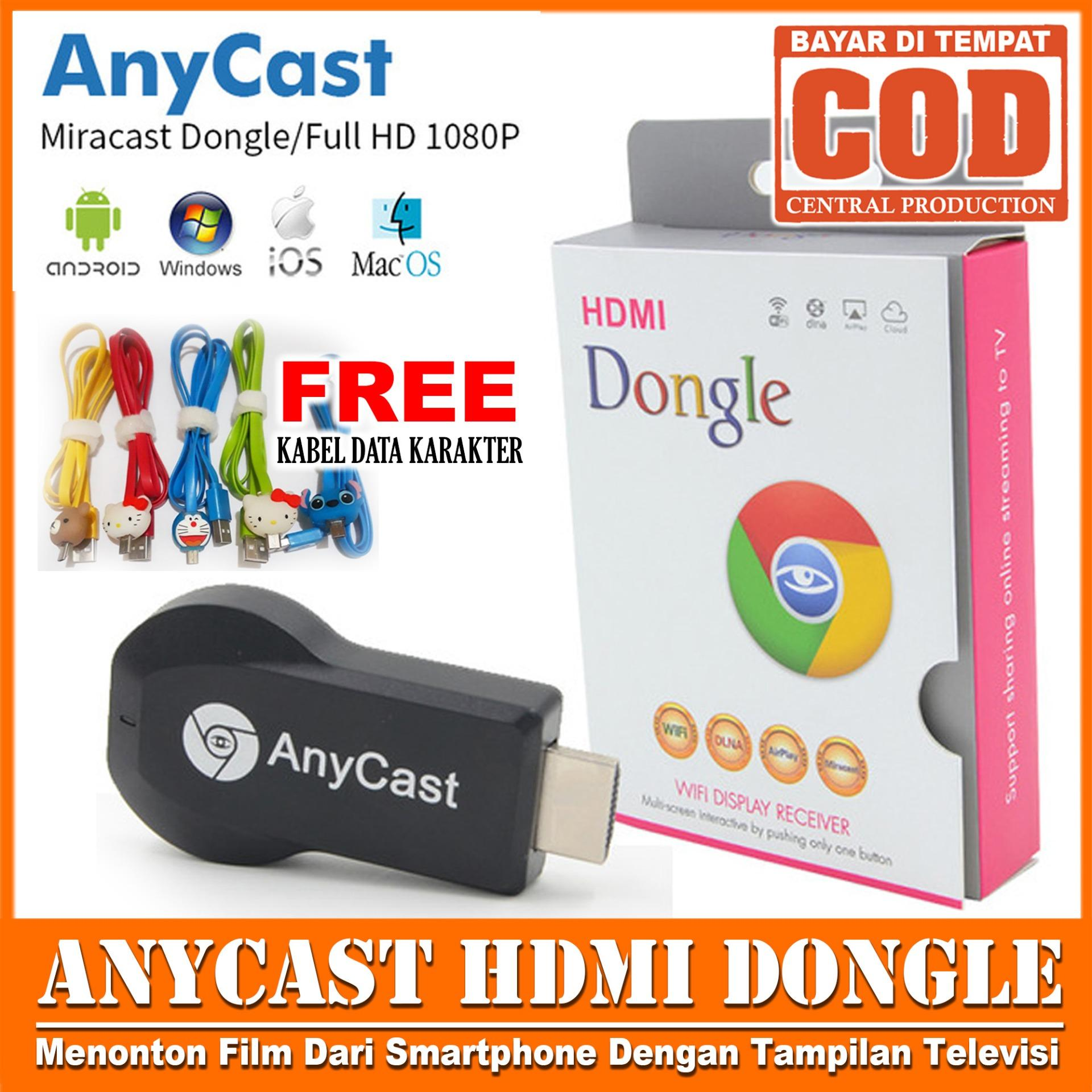 Beli Receiver Hdmi Store Marwanto606 Anycast Dongle Wireless Wifi Display Hd Tv Free Kabel Data Karakter