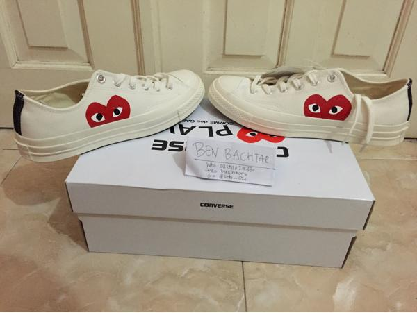 HARGA SPESIAL!!! Converse Ct 70S X Cdg Play White Low