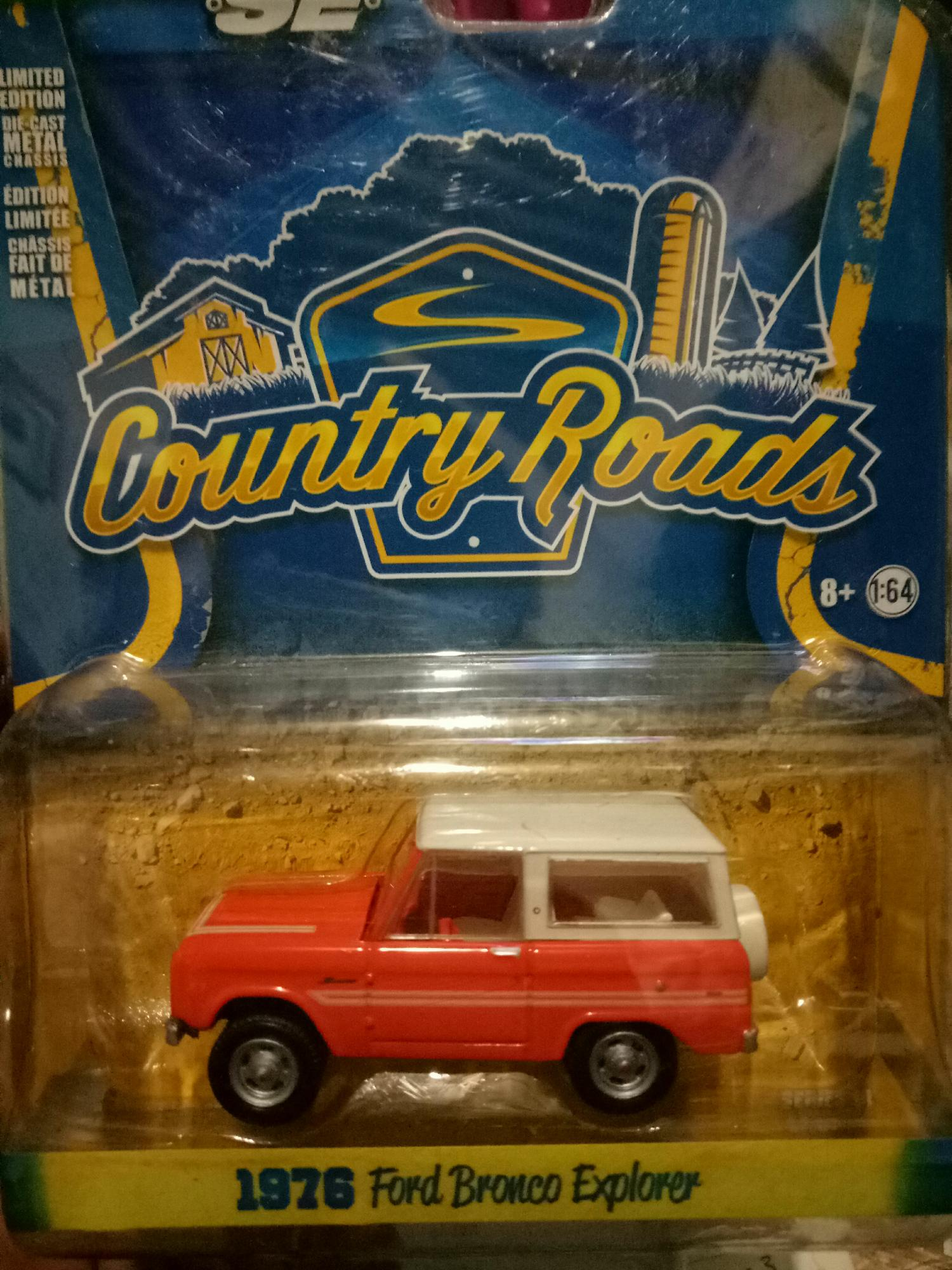 Diecast Greenlight Country Roads 1976 Ford Bronco Explorer