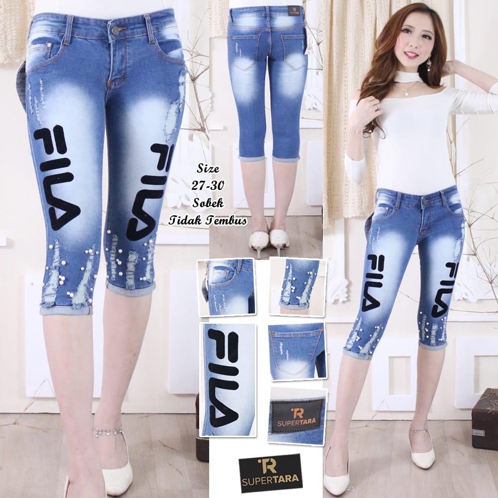 ANK-Celana Jeans Wanita 7/8 Sofjeans TARA  Motif