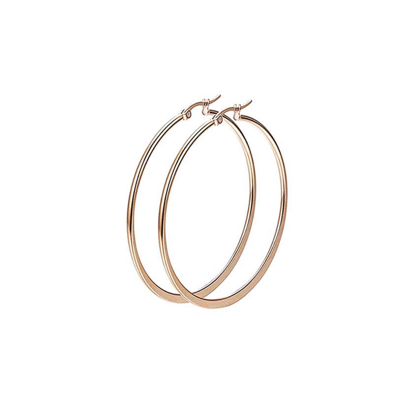 ❤Skute 1 Pair Seksi Anti Karat Halus Besar Besar Lingkaran Hoop Dangle Anting-Anting Wanita Steampunk Perhiasan 30-60mm