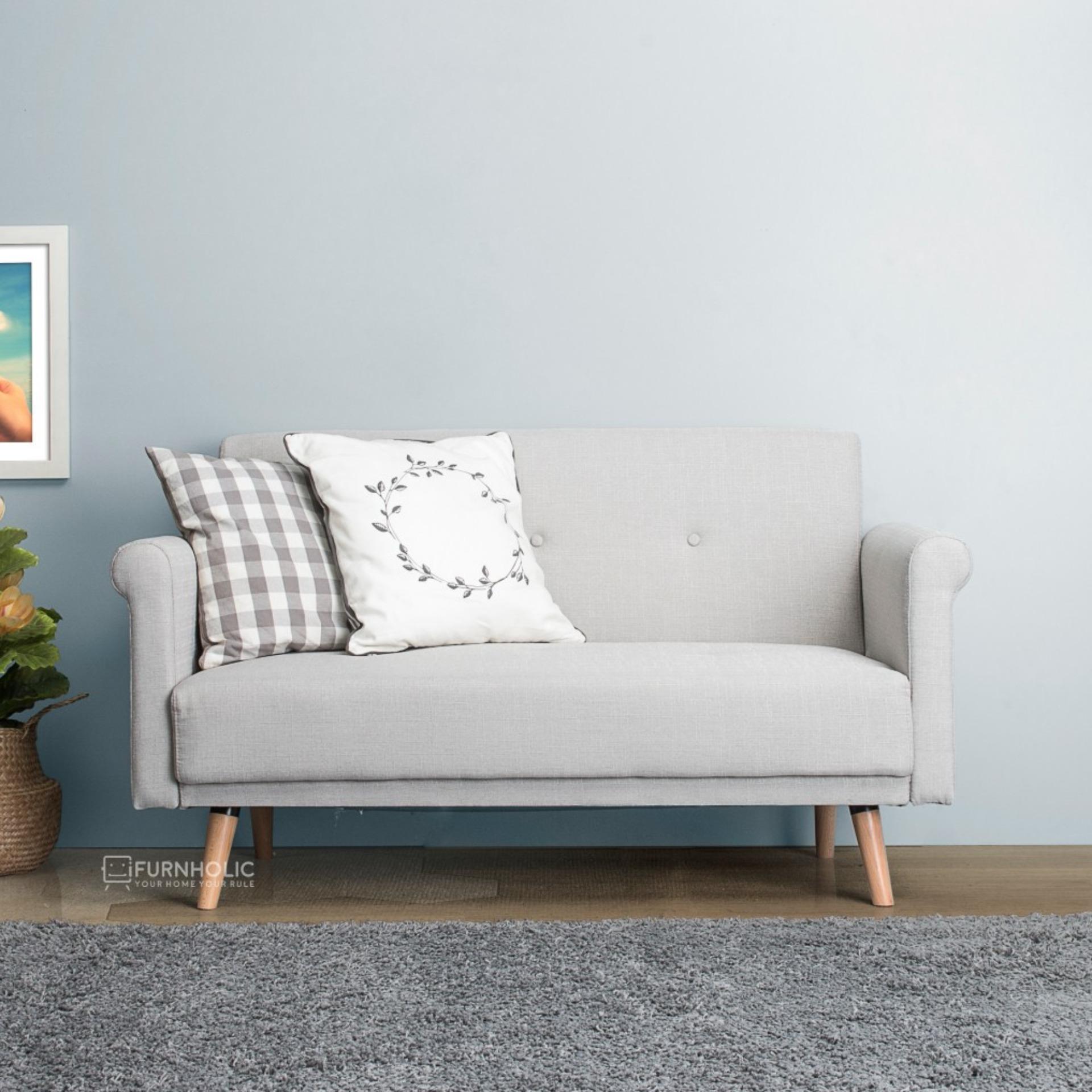 iFurnholic Mya Love Sofa - Kursi Sofa - Pale Grey - Gratis Pengiriman Pulau Jawa dan Denpasar