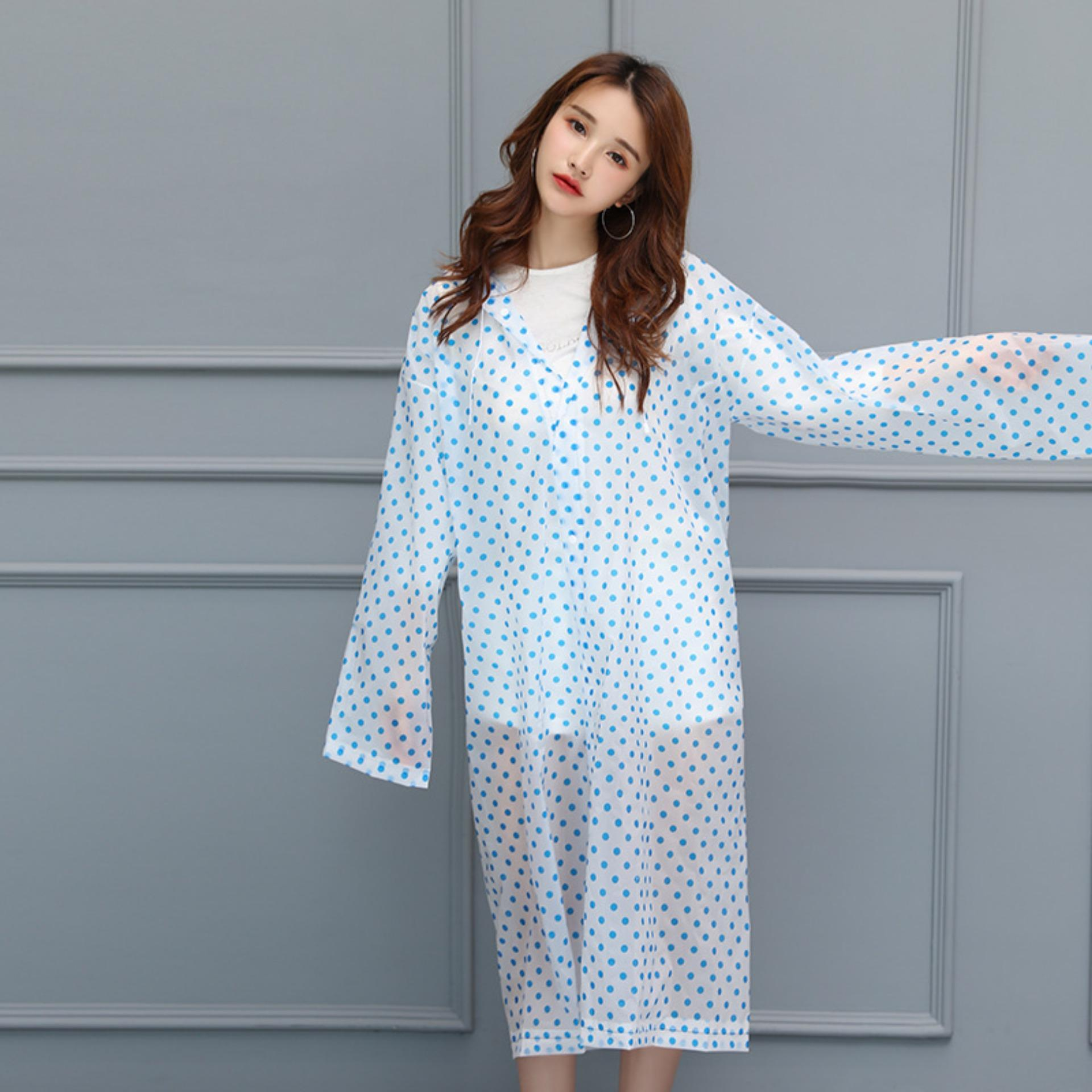 Jas Hujan Korean Style Murah Ponco Ceria Tipe Polka Dot Raincoat By Life & Beauty.