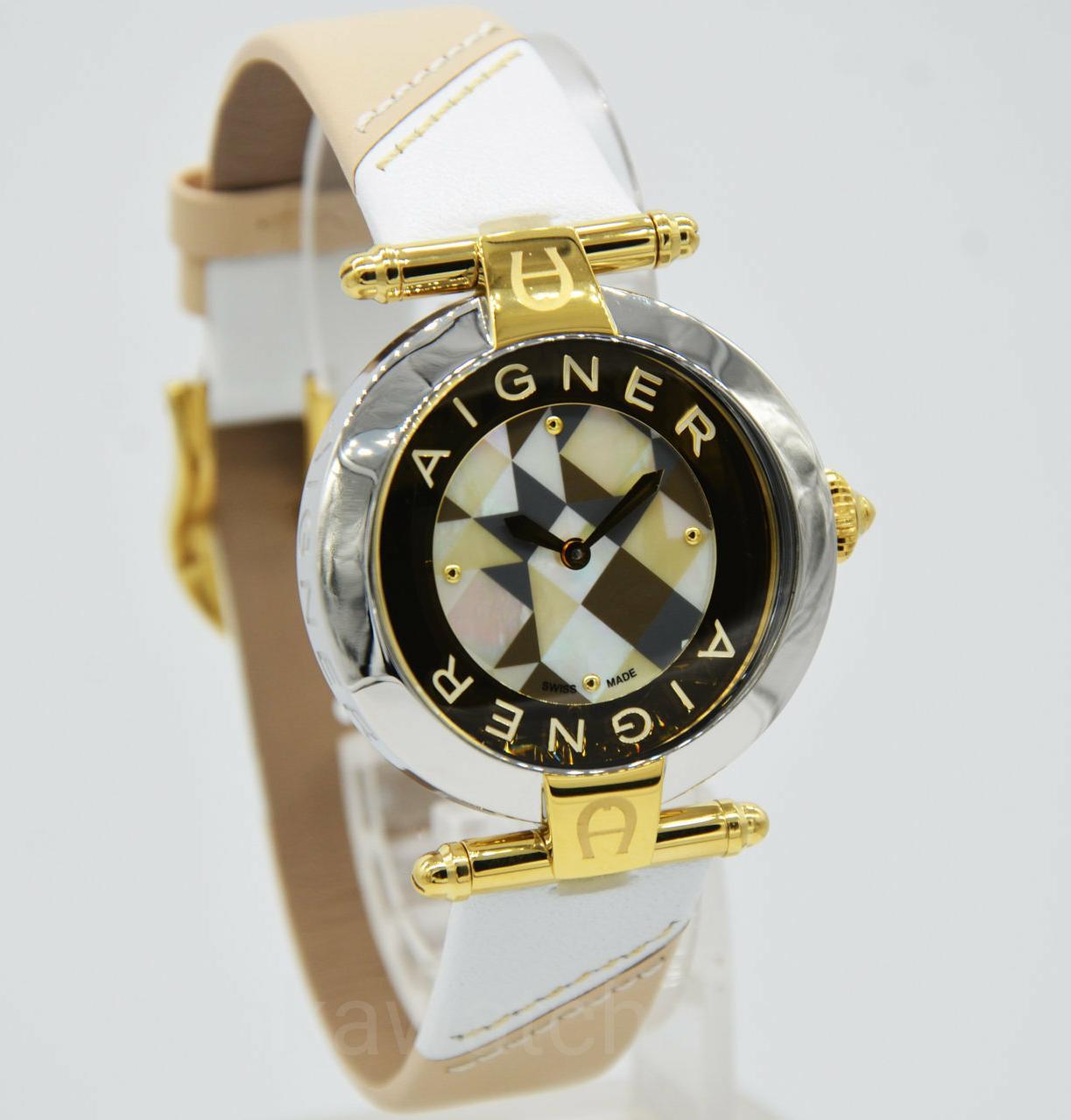 Aigner A31654 Genua Due Jam Tangan Wanita Stainless Gold Harga A19250 Capri Iii Merah Siena Original A16255 Garansi Resmi 2 Th
