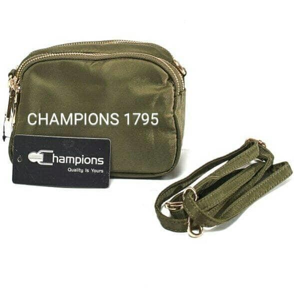 Harga Diskon!! Tas Selempang Wanita Import Champions 1795 Clutch Nylon Bagus Murah Hp - ready stock