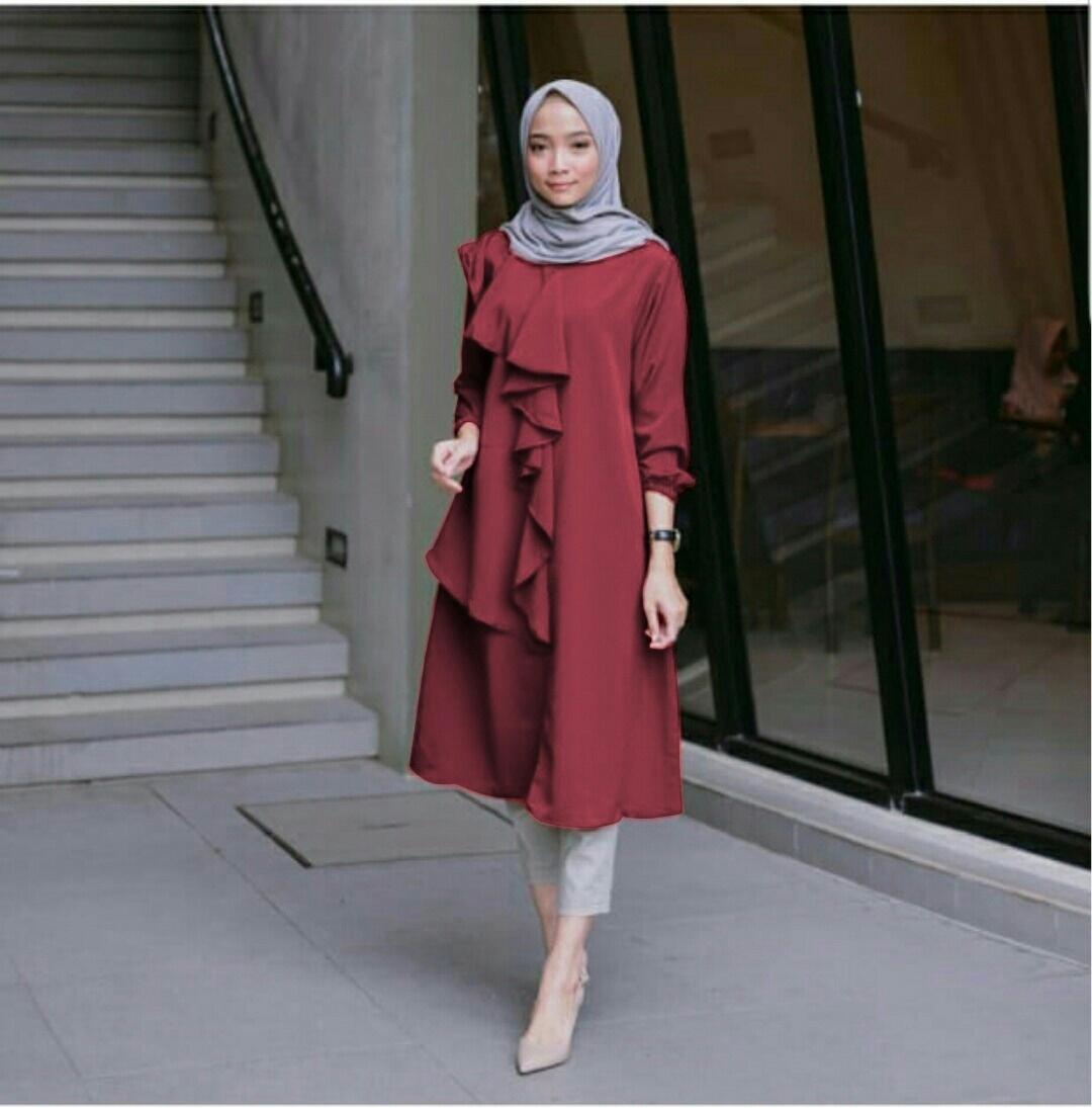 tunik balqis real pict  /fashion wanita/ muslim/ fashion muslim/ atasan wanita/ kemeja wanita/ blouse wanita / fashion anak/ baju anak / baju anak cewek / jaket wanita/ cardigan / hoddie / tunik