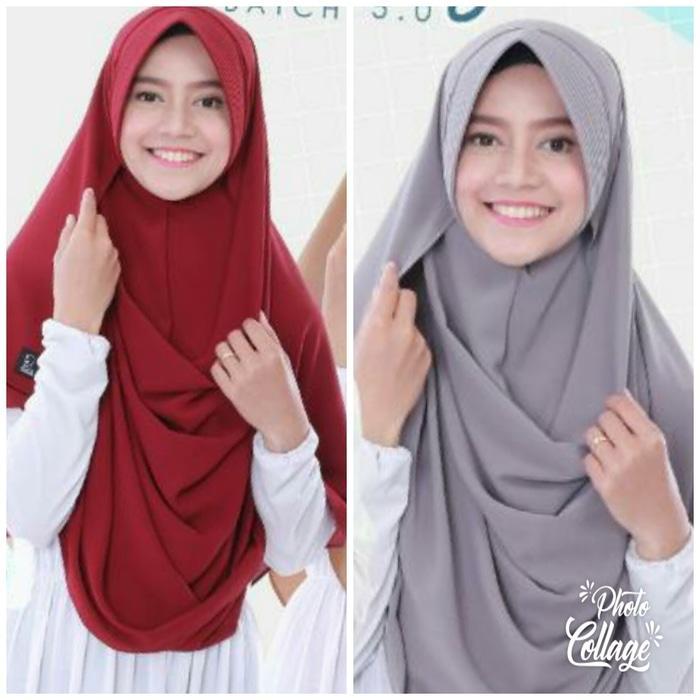 Kerudung/Jilbab/Hijab Pasmina Instan PASTAN PET warna sylver/Tosca/Dusty/Kuning/Putih/Kuning/Maroon/Hitam/Mocca/Mint/Navy/Lavender/Peach - BerkahMuslim