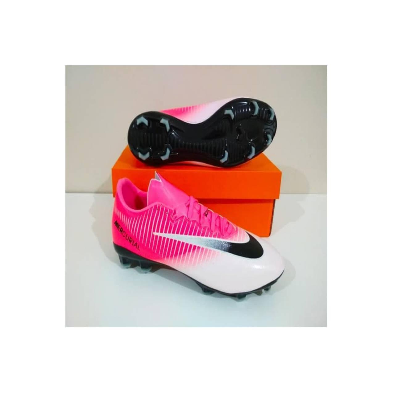 Murah- Sepatu Bola NIKE Mercurial Vapor FG Pink White