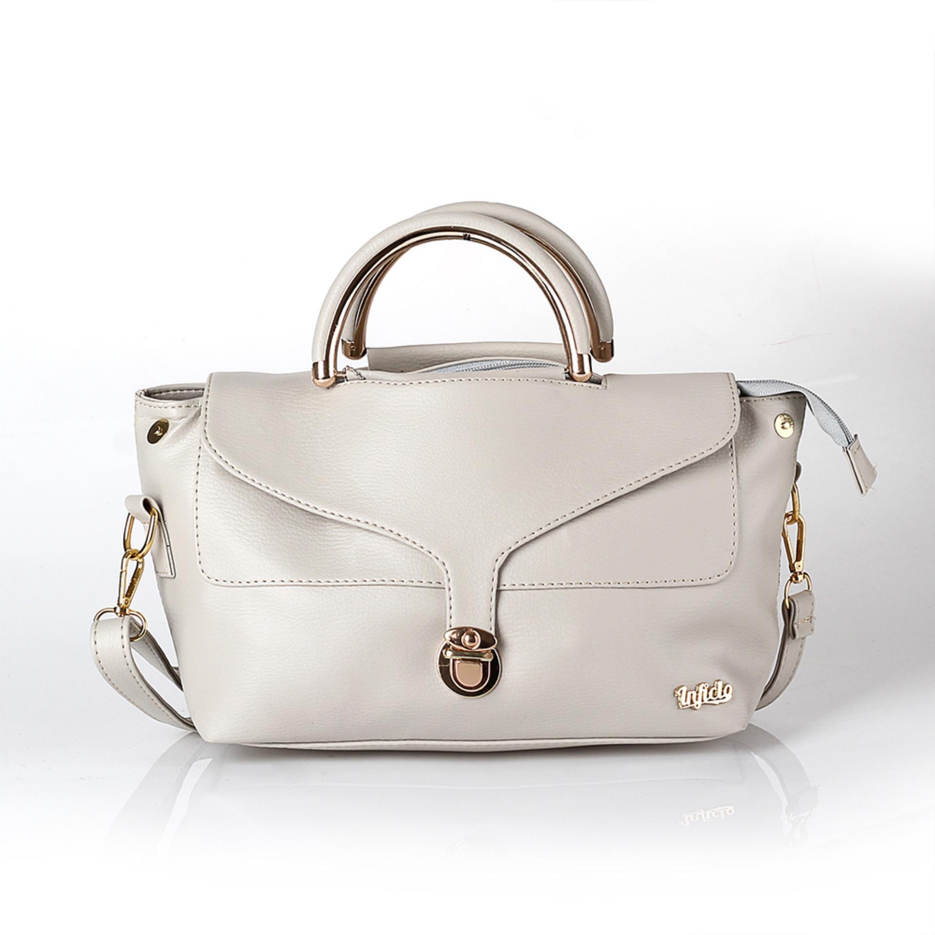Tas Premium Wanita Bahan Shafira Putih