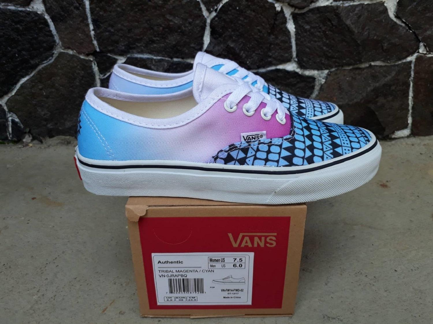 vns authentic tribal magenta ciyan wafle dt