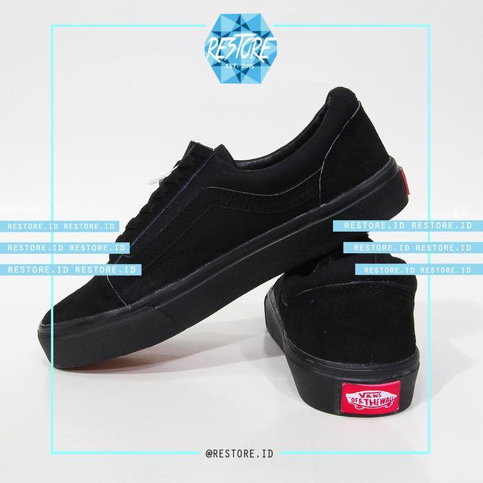 HARGA PROMO!!! Sepatu Vans Old Skull Full Black / Full Hitam / Best Quality