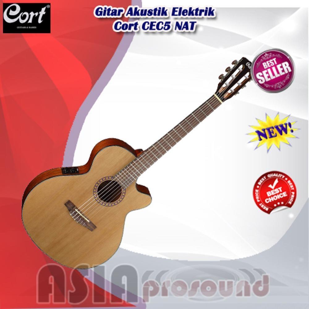 Gitar Akustik Elektrik Cort CEC5 NAT - CEC 5 - CEC-5 Nylon - String
