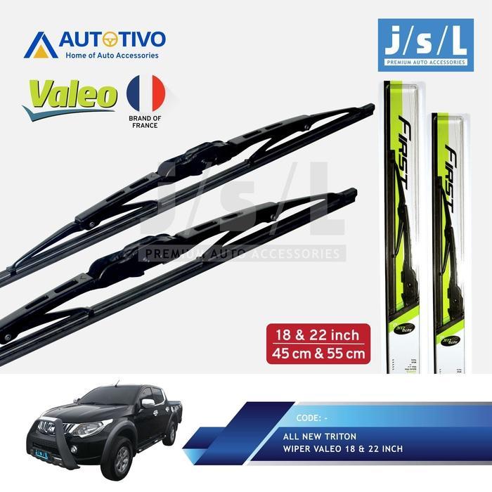 All New Triton Wiper Mobil Valeo (2 Pcs Kiri Kanan) By Istana.