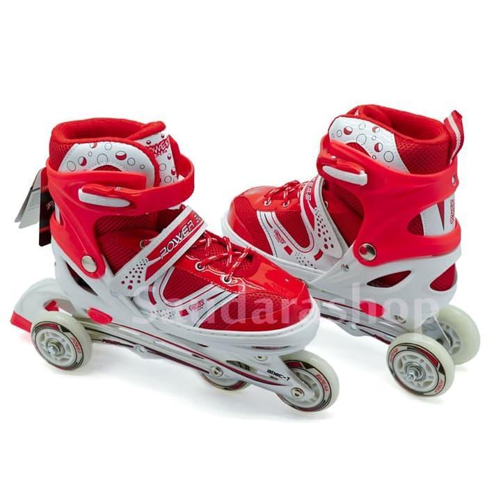 HARGA PROMO!!! Sepatu Roda Bajaj / Sepaturoda Bajaj Power Super MERAH - g90s0J