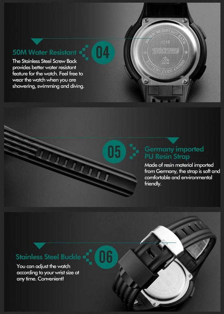 jam tangan pria / jam tangan pria original / jam tangan pria murah, jam tangan pria terbaru, jam tangan pria anti air / jam tangan pria 2018 / jam tangan pria terbaik / Jam Tangan Sport Original SKMEI 1219 Water Resist 50M / SUUNTO EIGER DISKON MURAH!!!