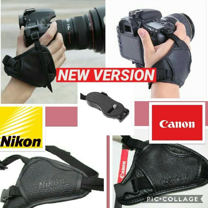 NEW LEATHER HAND GRIP STRAP CAMERA DSLR DAN HANDYCAM COMPATIBLE FOR NIKON CANON SONY PENTAX