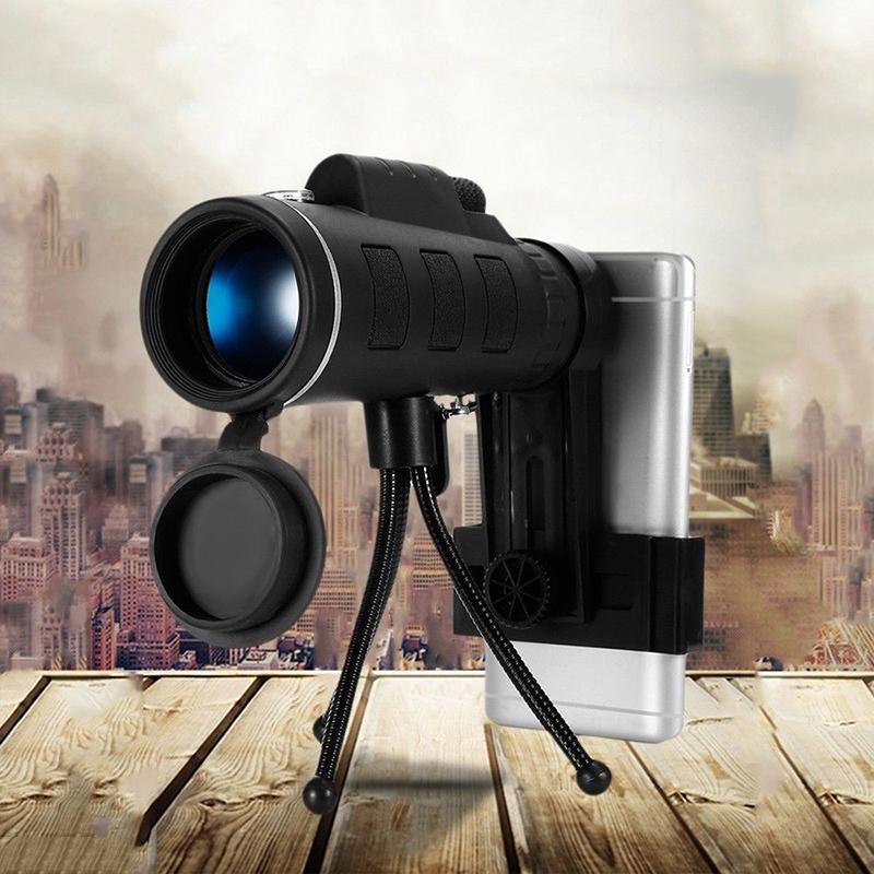 Bermata 40X60 Zoom Lensa Optik Teleskop + Tripod + Klip untuk Telepon Seluler-Intl