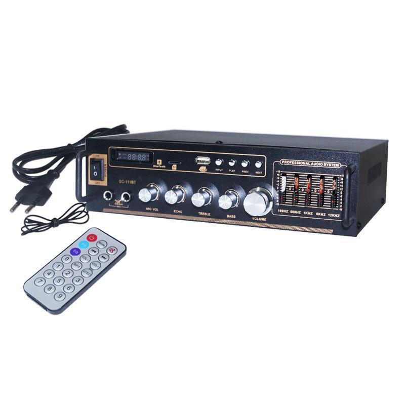 EELIC AMR-SC111BT AUDIO POWER AMPLIFIER BLUETOOTH USB/SD/AUX/CD/FM/MP3 DIGITAL PLAYER STEREO BERKUALITAS TINGGI PENGUAT SINYAL PENGUAT SUARA SUPER BASS  KARAOKE MIC AMPLI 12 VOLT UNTUK MOBIL,SEPEDA MOTOR,RUMAH,DLL.