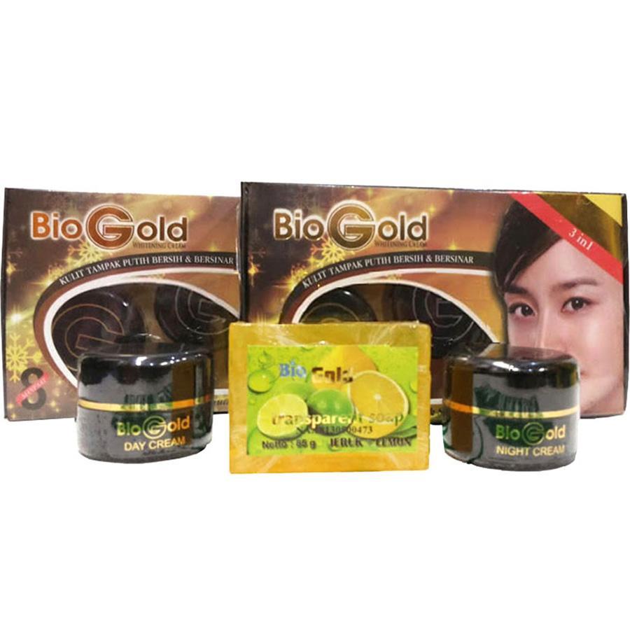 Jual Produk Bio Gold Online Terbaru Di Stemcell Biogold Whitening Cream Krim Wajah 3in1 Bpom 1 Paket