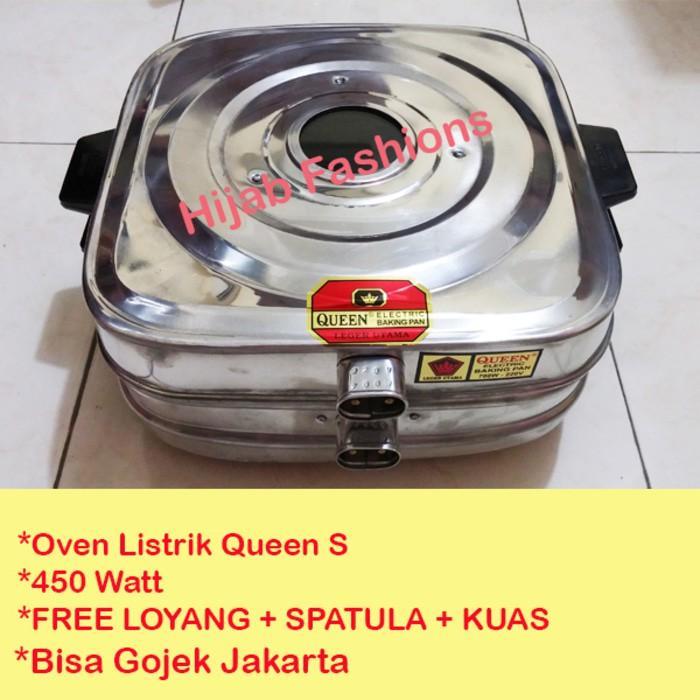 Oven Listrik Kue Lapis Kecil Stainless Queen Baking Pan 450 Watt  - F0obls