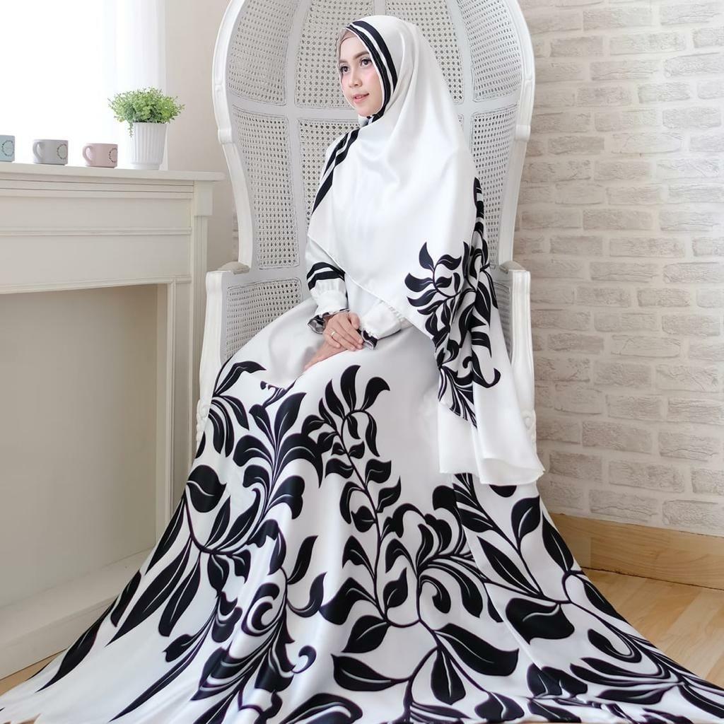 Baju gamis buat wanita bisa digunakan diacara pernikahan mau pun buat sholat juga bisa Hasan syari