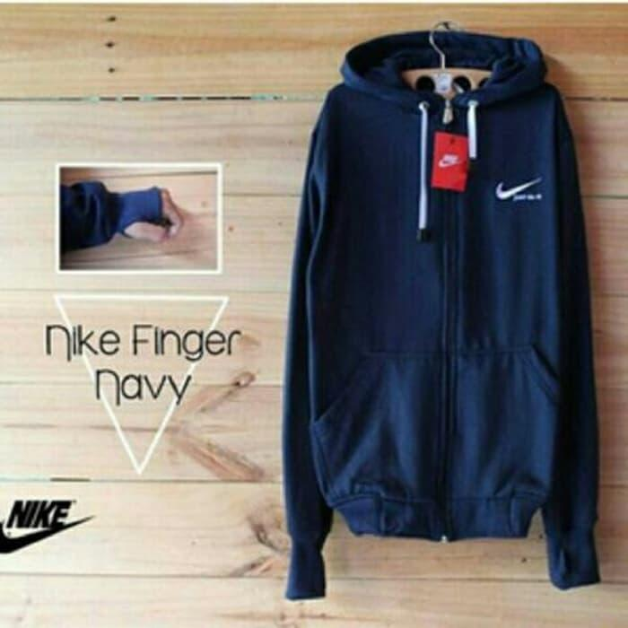 Jaket Hoodie Sweater Nike Cr7 Finger Navy Premium Quality
