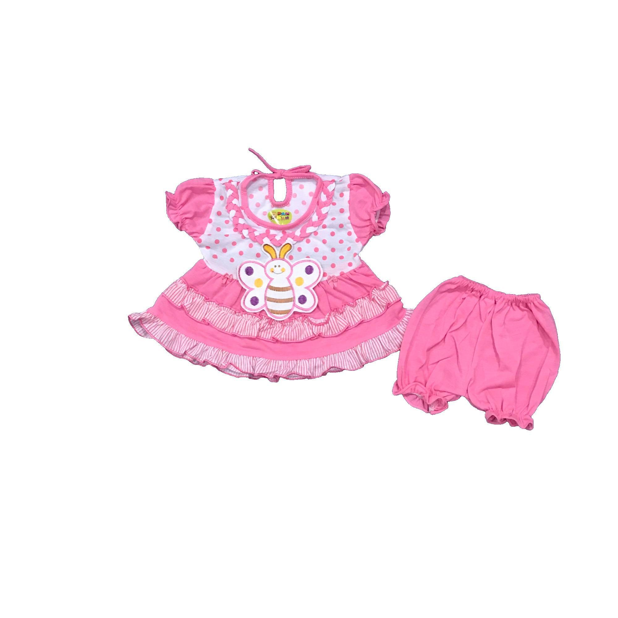 BAYIe - Setelan Baju bayi Perempuan motif KUPU-KUPU PAN-PAN usia 0-
