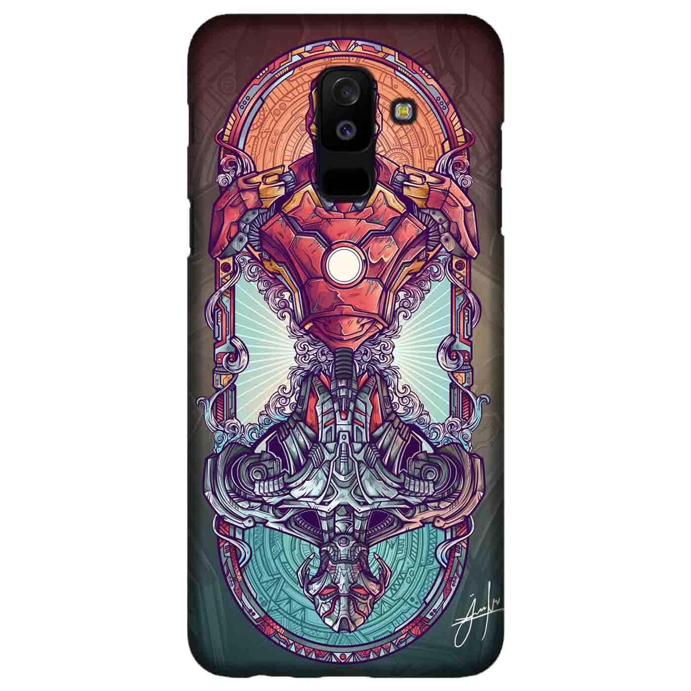 Casing Hardcase Bergambar Motif Ironman vs Ultron Artwork untuk Handphone Samsung Galaxy A6 Plus 20