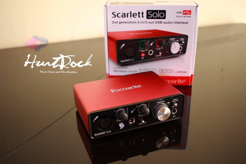 Soundcard Recording Scarlett Solo (2nd Gen) Murah Di Bandung