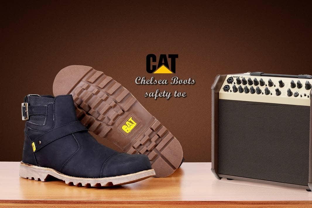 Grosir Promo Gratis Kaos Kaki Sepatu Boots Caterpillar Chelsea Safety Murah Paling Fashionable