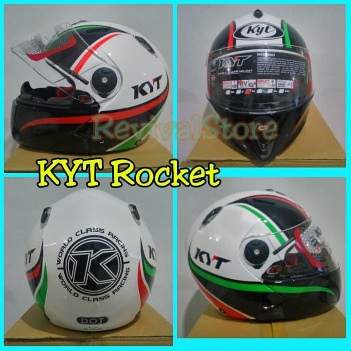 Helm KYT - X Rocket Retro / helm murah / full face