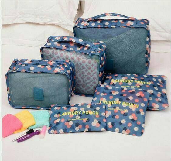 Promo Terbaru! Indoshopi TRAVELING BAG IN BAG ORGANIZER 1 SET ISI 6 PCS UK LEBIH BESAR Murah!