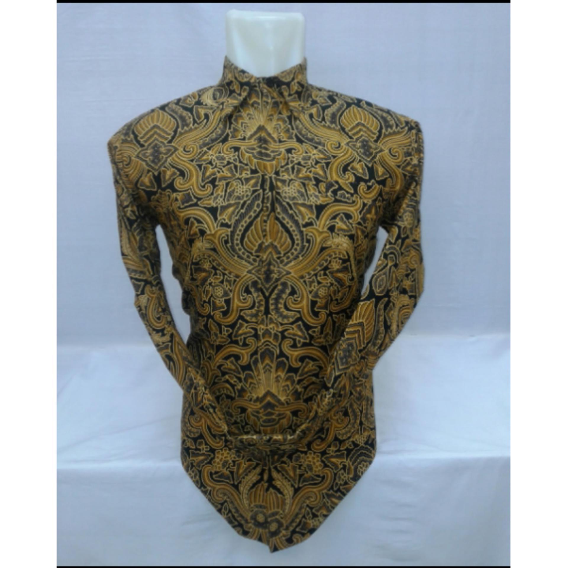 hersa shop/kemeja panjang batik sogan pria