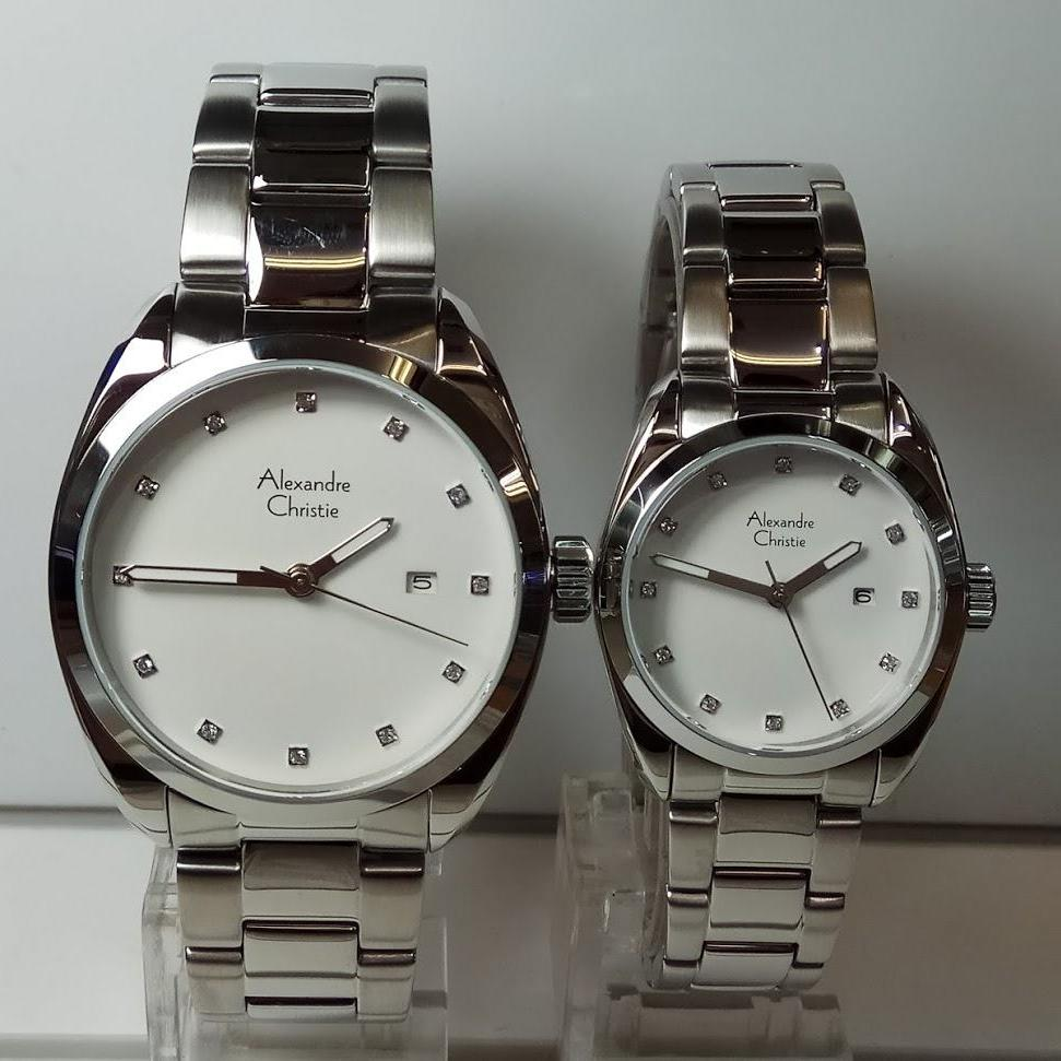Alexandre Christie Jam Tangan Pria Ac8515md 8040md Pasangan Stainless Steel Silver Couple Ac8534md Ld Classic