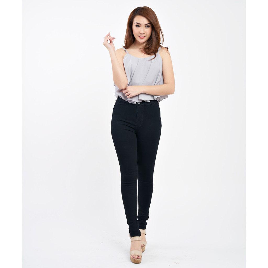 celana jeans highwaist wanita BAGUS kwalitas premium PROMO