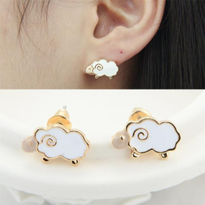PROMO SAAT INI anting domba putih / lamb glaze drip earrings JAN026 TERLARIS