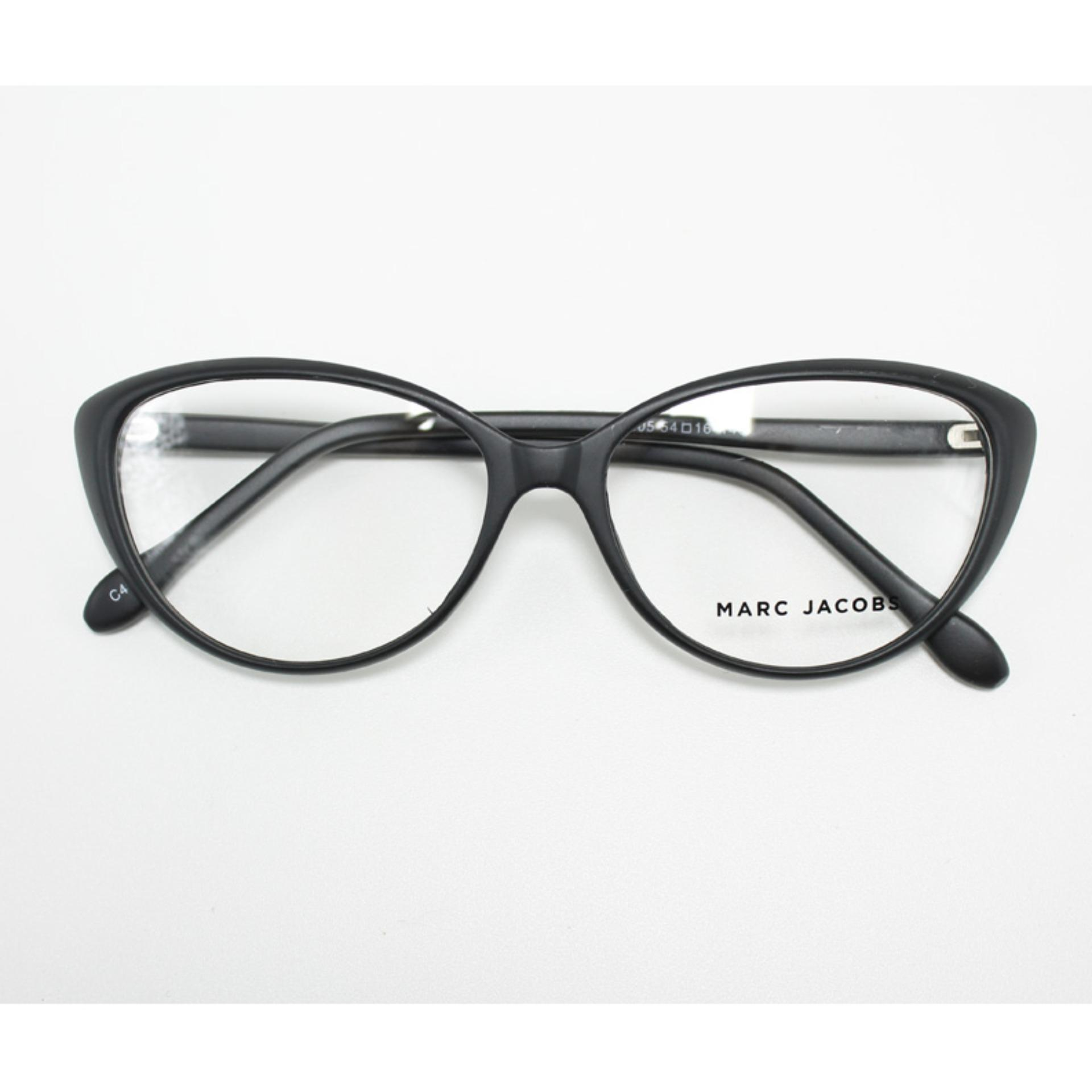 Kacamata Pria Wanita Frame Eyeglasses Retro Style Black Cat Eye Fashion 605