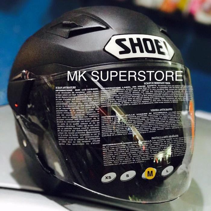 ZEUS 611 matt black doff hitam dop SHOEI M L XL helm doble visor zs611